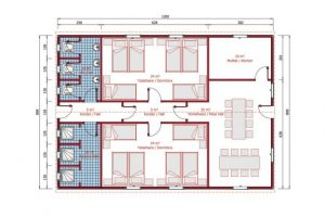 113 m2 Prefabrik Yatakhane Plan