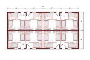 117m2 Prefabrik Yatakhane Plan