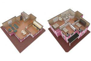 147 m2 Prefabrik Dublex Ev Plan A