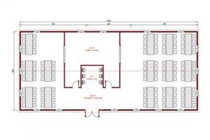 181 m2 Prefabrik Yemekhane Plan