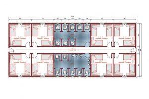 193 m2 Prefabrik Yatakhane Plan