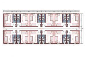204 m2 Prefabrik Yatakhane Plan