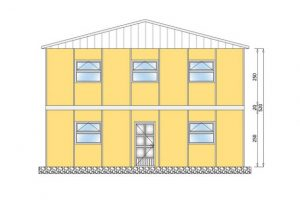 206 m2 Prefabrik Yatakhane Ön