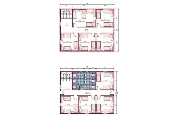 206 m2 Prefabrik Yatakhane Plan