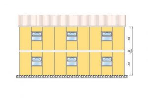206 m2 Prefabrik Yatakhane Yan