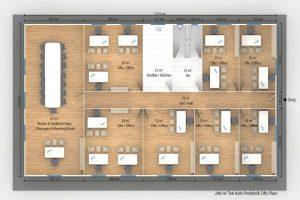 246 m2 Prefabrik Ofis & Yönetim Plan A