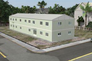 463 m2 Prefabrik Ofis & Yönetim Binası Görünüm