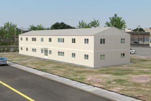 588 m2 Prefabrik Ofis & Yönetim Binası Görünüm