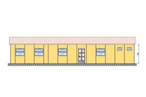 86 m2 Prefabrik Yatakhane Ön