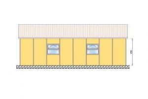 91 m2 Prefabrik Yatakhane Yan