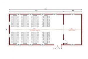 98 m2 Prefabrik Yemekhane Plan